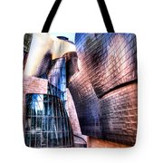 Main Entrance Of Guggenheim Bilbao Museum In The Basque Country Spain Tote Bag