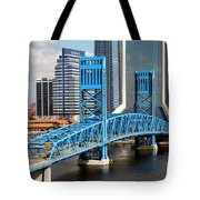 Main Street Bridge Jacksonville Florida Tote Bag