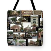 Main Street Disneyland Collage 02 Tote Bag