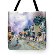 Main Street Half Moon Bay Tote Bag by Diane Thornton