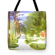 Main Street On A Cloudy Summers Day Tote Bag
