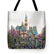 Main Street Sleeping Beauty Castle Disneyland 01 Tote Bag