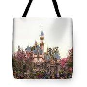 Main Street Sleeping Beauty Castle Disneyland 02 Tote Bag