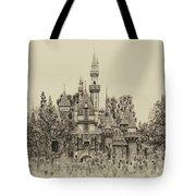 Main Street Sleeping Beauty Castle Disneyland Heirloom 01 Tote Bag