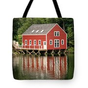 Maine Boat House Tote Bag