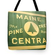 Maine Central The Pine Tree Route Tote Bag