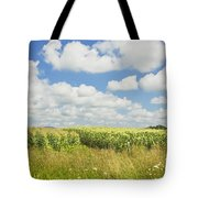 Maine Corn Field In Summer Photo Print Tote Bag