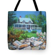 Maine Cottage Tote Bag