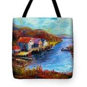 Maine Harbor Tote Bag
