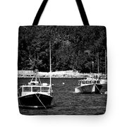 Maine Lobster Boats Tote Bag