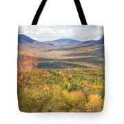 Maine Mountains In Fall Mount Blue State Park  Tote Bag