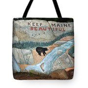 Maine Rock Painting Tote Bag