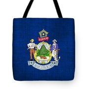 Maine State Flag Tote Bag