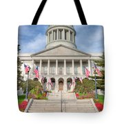 Maine State House V Tote Bag
