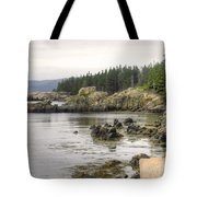 Maine's Beautiful Rocky Shore Tote Bag
