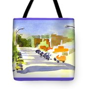 Main Street In Evening Shadows Tote Bag