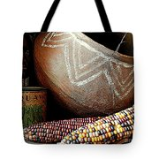 Pottery And Maize Indian Corn Still Life In New Orleans Louisiana Tote Bag