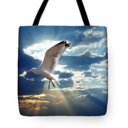 Majestic Bird Against Sunset Sky Tote Bag