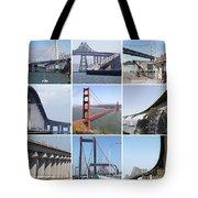 Majestic Bridges Of The San Francisco Bay Area Tote Bag