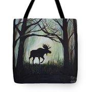 Majestic Bull Moose Tote Bag by Leslie Allen