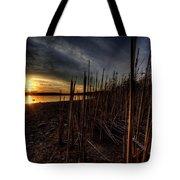 Majestic Lake Sunset Tote Bag