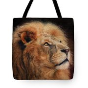 Majestic Lion Tote Bag by David Stribbling