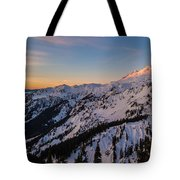 Majestic Mount Baker Sunrise Light Tote Bag