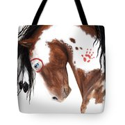 Majestic Pinto Horse 129 Tote Bag