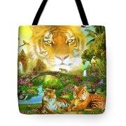 Majestic Tiger Grotto Tote Bag
