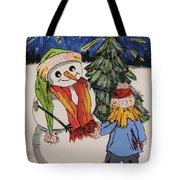 Make A Wish Snowman Tote Bag