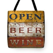 Bar Open-license Plate Art  Tote Bag