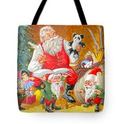 Making A List Checking It Twice Tote Bag