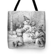 Making A Snowman Tote Bag