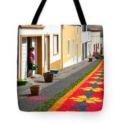 Making Flower Carpets Tote Bag