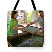 Making Paper Using Mulberry Tree Pulp At Boring Paper Factory In Chiand Mai-thailand Tote Bag