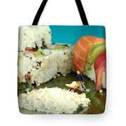 Making Sushi Little People On Food Tote Bag by Paul Ge