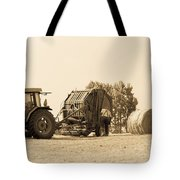Farm - Tractor - Hay - Making The Drop Tote Bag