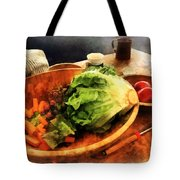 Making Waldorf Salad Tote Bag by Susan Savad