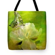 Malachite On Peony Tote Bag