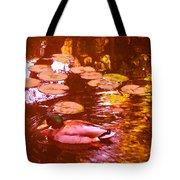 Malard Duck On Pond 3 Tote Bag