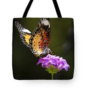 Malay Lacewing On A Flower  Tote Bag