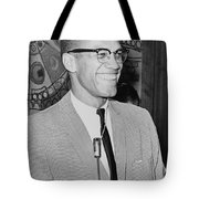Malcolm X Tote Bag by Ed Ford