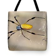 Male And Female Golden Silk Spiders Tote Bag