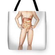 Male Body Standing, With Full Digestive Tote Bag by Leonello Calvetti