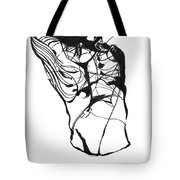 Male Figure Abstraction Tote Bag
