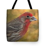 Male Finch With Seed Tote Bag