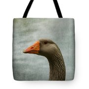 Male Graylag Goose Profile Tote Bag by Denyse Duhaime