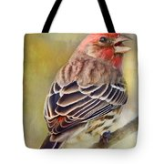 Male House Finch - Digital Paint Tote Bag