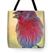 Male Housefinch - Digital Paint Tote Bag