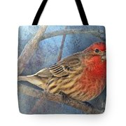 Male Housefinch Close View Tote Bag